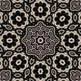 Mandala floral do contraste elevado Imagens de Stock Royalty Free