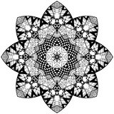 Mandala floral element Royalty Free Stock Image