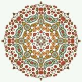 Mandala floral Elementos decorativos étnicos Desenhado à mão Fotos de Stock
