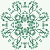 Mandala floral Elementos decorativos étnicos Desenhado à mão Foto de Stock