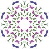 Mandala floral Elementos decorativos étnicos Desenhado à mão Imagem de Stock Royalty Free