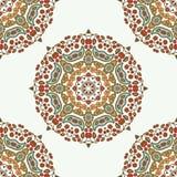 Mandala floral Elementos decorativos étnicos Fundo Hand-drawn Imagens de Stock Royalty Free