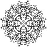 Mandala with floral elements Royalty Free Stock Photo