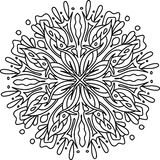 Mandala with floral elements Royalty Free Stock Image