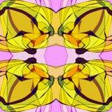 Mandala floral Estilo do vintage PÁLETE COLORIDA EM AMARELO, EM ROXO, EM PRETO E EM MARROM ilustração stock