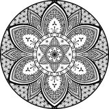 Mandala floral flower pattern vector ethnic tribal eastern motifs design royalty free illustration
