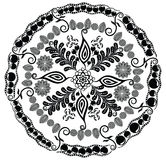 Mandala floral hermosa Ornamento para su diseño Fotografía de archivo libre de regalías