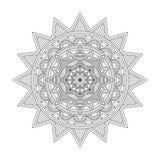 Mandala floral, ilustração do vetor Imagem de Stock
