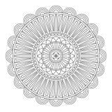 Mandala floral, ilustração do vetor Fotografia de Stock