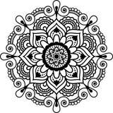 Mandala floral indiana do elemento da hena de Mehndi para o tatoo ou o cartão Fotos de Stock