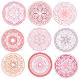 Mandala.Floral mandalas set.Coloring book. Outline . Pattern. Weave design element Royalty Free Stock Photos