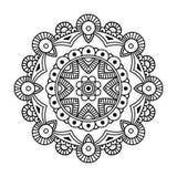 Mandala floral negra Fotografía de archivo libre de regalías