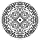 Mandala floral negra Foto de archivo