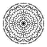 Mandala floral negra Imagenes de archivo