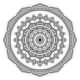 Mandala floral negra Foto de archivo libre de regalías