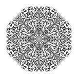 Mandala floral ornamentado intrincada Foto de Stock Royalty Free
