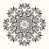 Mandala floral Ornamento redondo decorativo Imagens de Stock Royalty Free