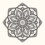 Mandala floral Ornamento redondo decorativo Fotos de Stock
