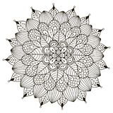 Mandala floral para o livro para colorir Foto de Stock Royalty Free
