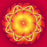 Mandala Floral Perfection. Symbolic elements of Tibetan religion vector illustration