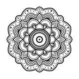 Mandala floral simple illustration stock