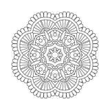 Mandala floral simple Foto de archivo libre de regalías