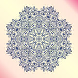 Mandala. Floral vintage round amulet tatoo Royalty Free Stock Image