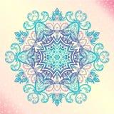 Mandala. Floral vintage round amulet tattoo Stock Photo