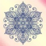 Mandala. Floral vintage round amulet tattoo Stock Images