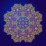 Mandala. Floral vintage round amulet tattoo Royalty Free Stock Images