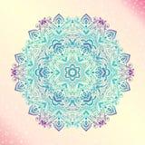 Mandala. Floral vintage round amulet tattoo Royalty Free Stock Image
