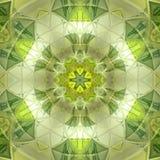 Mandala floreale abbastanza verde del triangolo del sole illustrazione di stock
