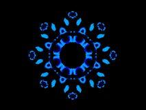 Mandala floreale blu Fotografia Stock Libera da Diritti