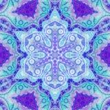 Mandala floreale blu royalty illustrazione gratis