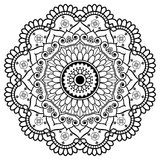 Mandala floreale dell'elemento del hennè indiano di Mehndi per il tatoo o la carta Fotografie Stock