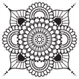 Mandala floreale dell'elemento di tatoo di mehndi del hennè nello stile indiano Immagini Stock