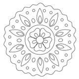 Mandala floreale di coloritura di Wave illustrazione di stock