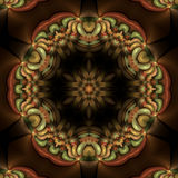 Mandala floreale di plastica Fotografie Stock