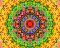 Mandala floreale di yoga Immagini Stock Libere da Diritti