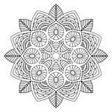 Mandala floreale nera Immagine Stock