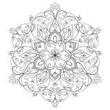 Mandala floreale rotonda Fotografia Stock Libera da Diritti