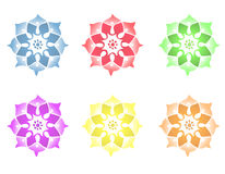 Mandala Flower. Different Mandala Flowers. Vector file available Stock Photos