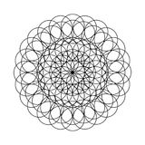 Mandala - Flower of the circles for the coloring book. . Mandala - Flower of the circles for the coloring book. The image contains imperfections imitating Stock Photography