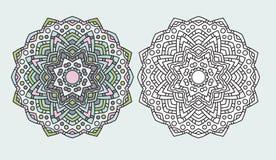 Mandala flower coloring drawing vector Royalty Free Stock Images