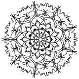 Mandala flower coloring raster for adults Royalty Free Stock Image