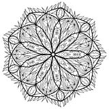 Mandala flower coloring raster for adults Stock Photography