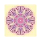 Mandala flower design. Royalty Free Stock Photography