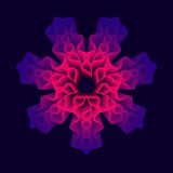 Mandala Flower, geometría sagrada Imágenes de archivo libres de regalías