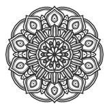 Mandala flower illustration vector stock photo