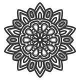 Mandala flower illustration vector royalty free stock image